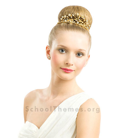 Homecoming Hairstyles designed to match the right dress, jewelry and shoes. 1