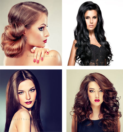 Homecoming Hairstyles designed to match the right dress, jewelry and shoes. 2