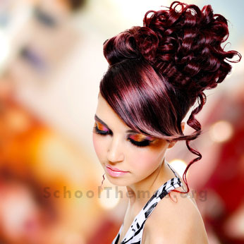 Homecoming Hairstyles designed to match the right dress, jewelry and shoes. 5