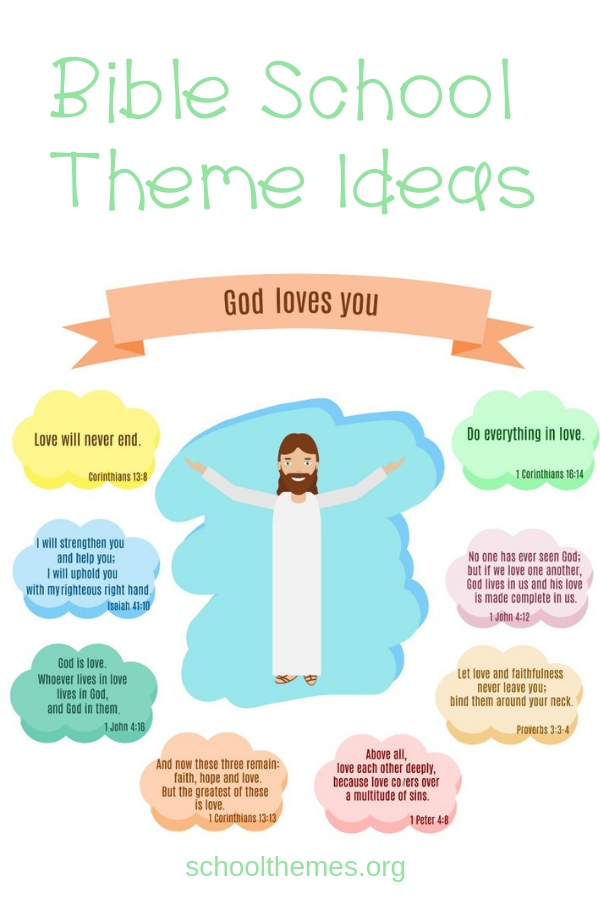 Are you looking for some Bible school theme ideas? You can make the Bible come to life by creating a fun activity about God that your kids will love. #biblethemes #vbs #vbsideas #biblethemeideas #teachkidsaboutgod #schoolthemes