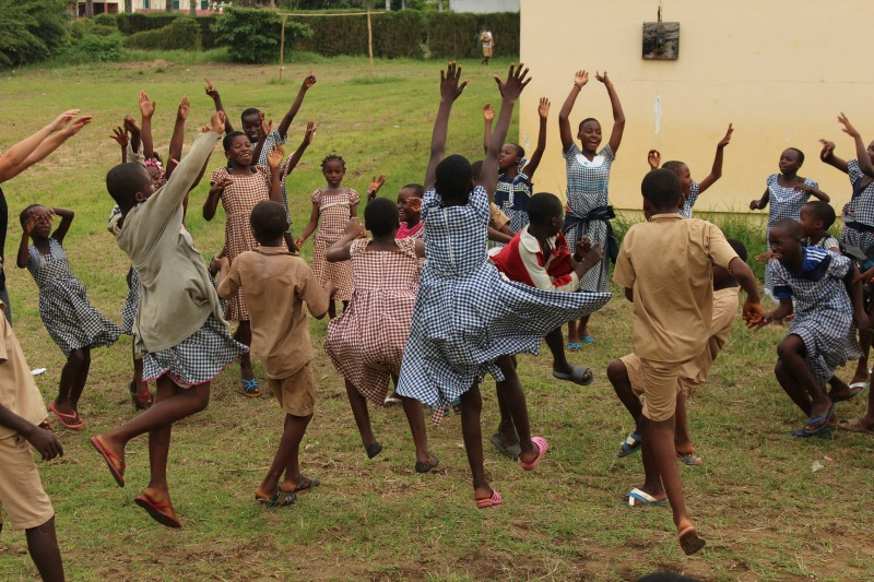 Happy school kids in Africa