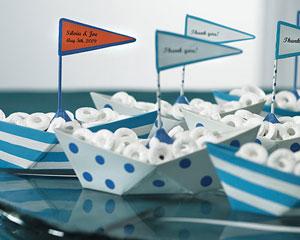 Themed favors - life savers candy in a boat shaped container